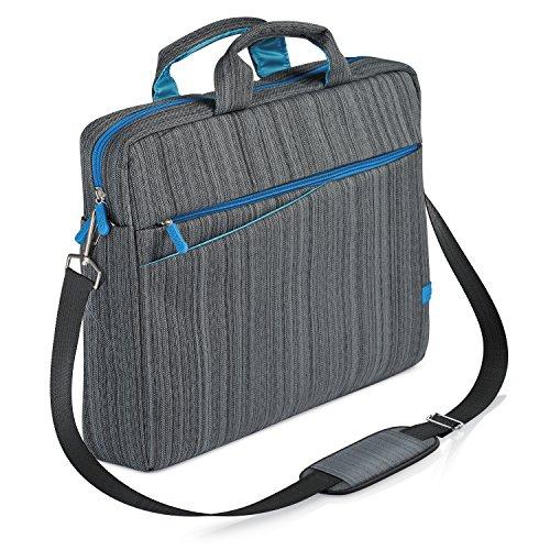 CSL - Notebooktasche für Notebooks bis 17,3 Zoll (43,9cm) | Laptop Tasche / Schultertasche | mit Zubehör-Fächern und widerstandsfähigen Polsterwänden | schmutz- und wasserabweisend