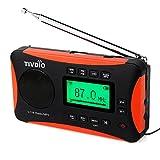 Tivdio V-116 Tragbares Radio DSP FM/ MW/ SW Weltempfaenger Radio Kurzwelle mit MP3-Player (schwarz und Orange)