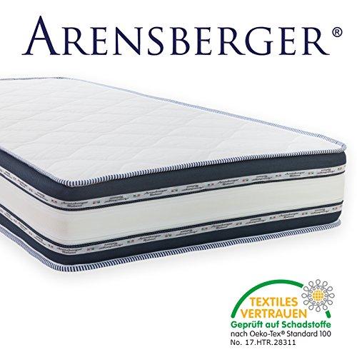 Arensberger Relaxx 9 Zonen Wellness Matratze mit 3D-Memory Foam, 160cm x 200cm, Höhe 25cm, Raumgewicht 50 kg/m³, drei Schichten: Kaltschaum + Visco Smart Schaum + Gel Schaum