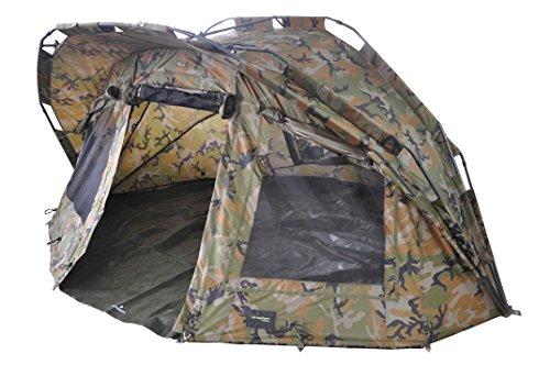 MK-Angelsport 'Fort Knox Ghost 2 Mann Dome' Zelt Karpfenzelt Camouflage Angelzelt incl. Gummihammer