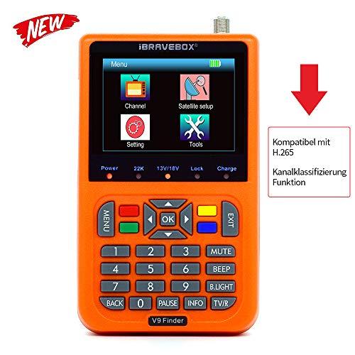 KKmoon sat finde Digital Satellite Finder mit 3,5 Zoll LCD Digitalanzeige Neue Version (Deutsche Bedienungsanleitung)
