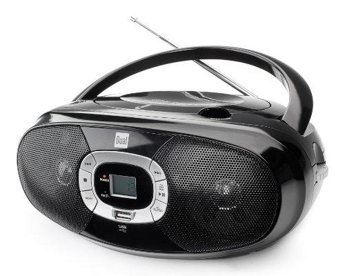 Dual P 390 Portable Boombox (CD-Player, Radio UKW/MW, Kopfhöreranschluss) schwarz