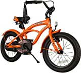 BIKESTAR Premium Sicherheits Kinderfahrrad 16 Zoll für Jungen ab 4 - 5 Jahre  16er Kinderrad Cruiser  Fahrrad für Kinder Schwarz (matt)