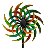WINDRAD °ART FERRO ° SONNE ° METALL° WINDSPIEL° GARTENSTECKER° 42 x 16,5 x 170 cm