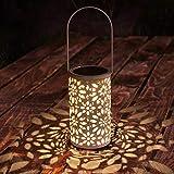 Tencoz Solarlaterne, LED-Solarlaterne die marokkanische Schattenbild-Solarlichter hängt LED beleuchtet Garten-im Freien, der Wasserdichte Lampe für Patio-Hof beleuchtet [Energieklasse A+]
