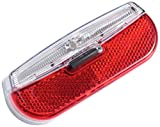 Trelock Beleuchtung LS 812 Trio Flat RB S SL Batterierücklicht, Black, 8002304