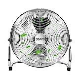 OZAVO Standventilator, Windmaschine 39/50/56 cm mit 3 Laufgeschwindigkeiten, Bodenventilator Power, Tischventilator Metall, Luftkühler, verstellbare Neigungswinkel, 45/80/100 W (39cm)