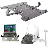 Laptop Halterung Adapterplatte schwarz an Wandhalterung Tischhalter Halterplatte VESA 100 für Notebook Netbook Tablet PC Mediaplayer Modell: IP27B