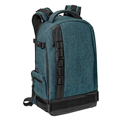 PEDEA DSLR-Kamerarucksack 'Fashion' Fotorucksack für Spiegelreflexkameras mit wasserdichtem Regenschutz und variabler Inneneinteilung, petrol