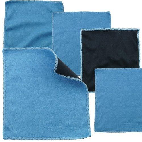 Mikrofaser-Reinigungstücher - 5 Stück Packung mit Doppelseitigen Reinigungstüchern (6,6 Zoll x 6,2 Zoll) - Mikrofaser und velour Tuch für die Reinigung von Handys, LCD-TV, Laptop-Bildschirme