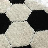L&WB Fußball-Teppich, Junge Kind Zimmer Rutschfeste Runde Teppich, Computer Stuhlkorb Teppich,100Cm