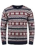 !Solid Winno Herren Weihnachtspullover Norweger-Pullover Winter Strickpullover Grobstrick Pullover mit Rundhalsausschnitt, Größe:XXL, Farbe:Insignia Blue (1991)
