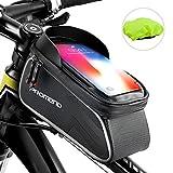 Rahmentasche, Fahrradrahmen Tasche Wasserdicht Touchscreen Fahrrad Handbar Front Bike Handytasche mit Sonnenblende für unten 6.2 'Telefon