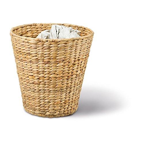Papierkorb rund, hellbraun, Ø 27cm x H 27cm