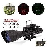 Lovebay C4-12x50 EG AR15 Taktische Gewehr zielfernrohre, luftgewehr zielfernrohr Dual Beleuchtet und Holographic 4 Reticles Red & Green Dot Sight Optik Visier scopes für die Jagd