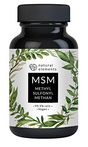 MSM Kapseln - 365 vegane Kapseln - Laborgeprüft - 1400mg Methylsulfonylmethan (MSM) Pulver pro Tagesdosis - Ohne Magnesiumstearat, künstliche Ascorbinsäure - Hochdosiert, hergestellt in Deutschland