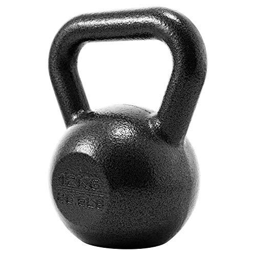 PROIRON Gusseisen Kettlebell 12kg Gewicht für Home Gym Fitness & Gewicht Training