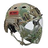 OneTigris Taktische Helm mit Maske und Schutzbrille für Softair(MC)
