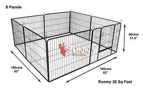 Bunny Business Laufgehege für Welpen, modular, robust, 160x160x80cm, 8Elemente