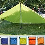 Camping Tarp Sonnenschutz, wasserdicht, Ultraleicht, Markisenvorhang, für Wandern, Angeln, Picknick, Strandzelt, Camping, Überlebensunterstand Free Size blau