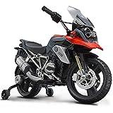 Rollplay Premium Elektro-Motorrad, Für Kinder ab 3 Jahren, bis Max. 35 kg, 12-Volt-Akku, bis zu 4 km/h, BMW 1200 Motorcycle, Rot