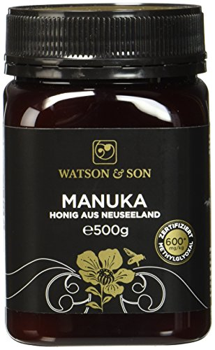 Watson & Son Manuka Honig MGO 600+ 500g   Zertifizierte Premium Qualität aus Neuseeland