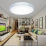 VINGO 60W LED Kristall Deckenleuchte Sternenhimmel Kaltweiß Starlight Eckig Deckenbeleuchtung Wohnzimmer Deckenlampe Korridor Schlafzimmer Schönes 6000K-6500K Mordern Badleuchte