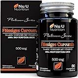 Kurkuma (curcuma) Kapseln (flüssig) mit Vitamin D | 185x stärkere Bioverfügbarkeit NovaSOL Curcumin | Hochdosiert vegetarisch Premium flüssiges Curcumin kapseln hochdosiert