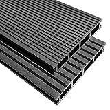 vidaXL WPC Terrassendielen 10 m² 2,2 m 25 mm Grau Komplettbausatz Komplettset