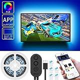 Led TV Hintergrundbeleuchtung,Govee 2M USB TV Beleuchtung mit APP für 40-60 Zoll TV, Multifarben led fernseher beleuchtung, RGB LED Strip, MEHRWEG