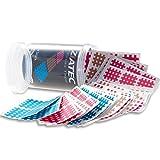 Ziatec Cross Tapes mit 102 oder 204 Pflaster, Akupunktur-Pflaster mit Gitternetzstruktur, Crosslinge + Ziatec Tape Schutzdose, Größe:Universalgröße, Farbe:mix…