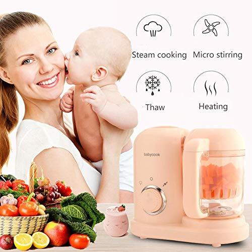 DEQUATE Babynahrungszubereiter 4 In 1 - Babynahrung Hersteller, BPA Frei, Baby Küchenmaschine(Dampf, Rühren, Erhitzen) - - 220V / 120W