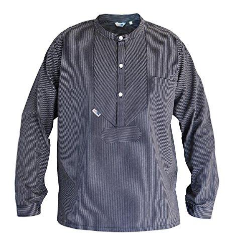 Modas Finkenwerder Fischerhemd BasicLine schmal gestreift, Größe:L
