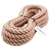 5m 30mm -- JUTESEIL Naturfasern gedreht Tauwerk Hanf Jute Tau Seil Tauziehen Absperrseil Handlauf