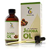 Natura Pur Bio Jojobaöl Gold 120ml, ohne Silikon - 100% nativ, kaltgepresst, vegan - Anti-Aging Serum für Gesicht, Anti-Falten, Körper, Haare, Haut, Hände, Nägel - naturreines Basisöl