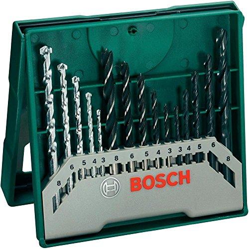 Bosch Mini-X-Line Mixed-Set 15tlg. (Holz, Stein, Metall, für Bohrmaschinen/ Schrauber)