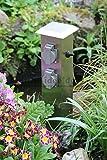 Steckdosensäule 4-fach Aussensteckdosen Energiesäule Energieverteiler Gartensteckdose mit Schalter' Made for Licht-Idee '