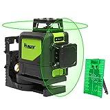 360 Grad Laser Level - Levelsure 902CG Professioneller 45M Grüner Strahl Kreuz Laser Selbst Nivellierend, 360-Grad Vertikale und 360-Grad Horizontale Linie