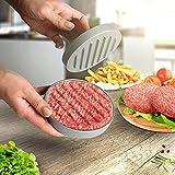 broil-master Burgerpresse Ø11,5 aus Aluguss mit Komfort Holz-Griff in Braun | Hamburgerpresse, Fleischpresse, Burger Pattie Presse