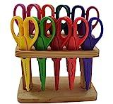 Jumbo DIY Bastelscheren-Set, 10-tlg. im Holzständer - mit 10 verschiedenen Schnittmustern!