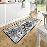 HANSE Home 102370 Teppichläufer, Polyamid, grau, 67 x 180 x 0.8 cm