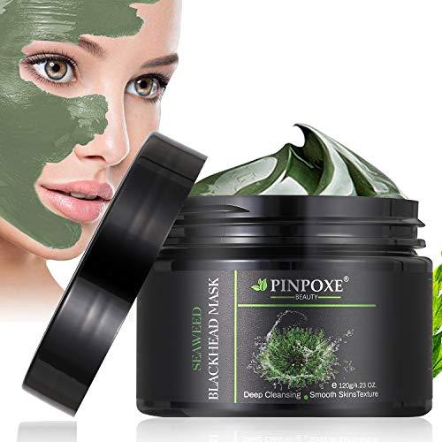 Blackhead Remover Maske, Peel Off Maske, Mitesser Maske, Anti Aging Mask, Gesichtsmaske mit Algen, gegen unreine Haut, fettige Haut& Mitesser, 100% Natural Gesicht & Körper Maske, 120g/4.23 fl.oz