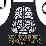 YORA Grillschürze für Männer - Brater - lustige Kochschürze als ideales Männer Geschenk zum Vatertag