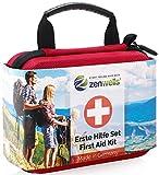 Erste Hilfe Set - Perfekt für Wandern, Outdoor, Fahrrad, Sport und Reisen - Survival Kit mit BONUS Notfall Trillerpfeife, Pinzette und Karabiner