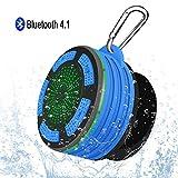 Alitoo Lautsprecher Bluetooth,Wasserdichter Speaker Portable Wireless Duschlautsprecher mit FM Radio,Saugnapf und Haken,Eingebauter Mic,Freisprecheinrichtung Tragbare Duschradio für Sport,Auto,Dusche
