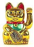 Winkekatze MANEKI NEKO 6' / 16cm gold