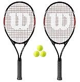 2 x Wilson Fusion XL Tennisschlager + 3 Balls RRP £100