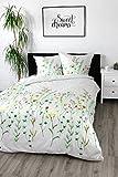 Satinbettwäsche 135x200 cm 100% Baumwolle Design Wild Flowers