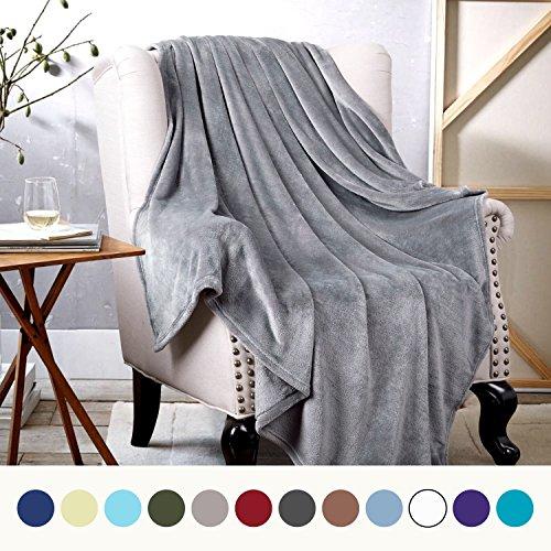 Kuscheldecke 150x200cm flauschige Wohndecke Grau - hochwertige Decke warm & weich Microfaser flanelle Fleecedecke, falten-beständig anti-verfärben Sofadecke von Bedsure