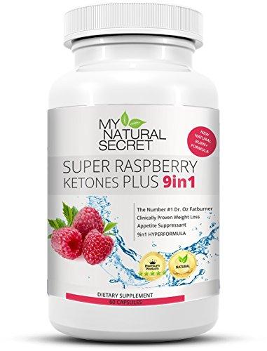 Super Raspberry Ketone Plus – Der MyNaturalSecret Bestseller Verbesserte 9in1 Formel mit 100% purem Himbeer Keton Pulver